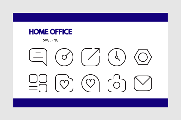 Download Free Home Office Icon Pack Graphic By Rheinata Creative Creative for Cricut Explore, Silhouette and other cutting machines.