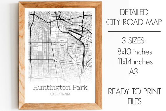 Download Free Huntington Park California City Map Graphic By Svgexpress for Cricut Explore, Silhouette and other cutting machines.