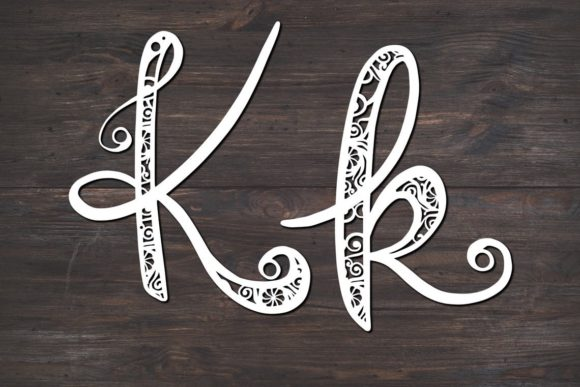Download Free K Monogram Mandala Graphic By Fortunasvg Creative Fabrica for Cricut Explore, Silhouette and other cutting machines.