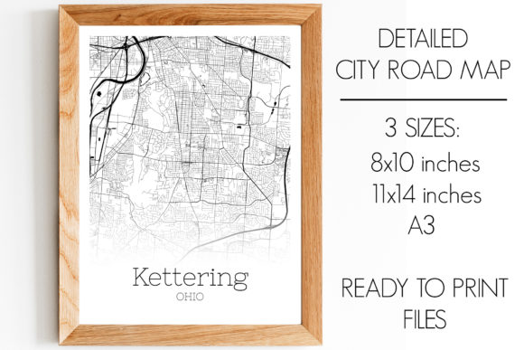 Download Free Kettering Ohio City Map Graphic By Svgexpress Creative Fabrica for Cricut Explore, Silhouette and other cutting machines.