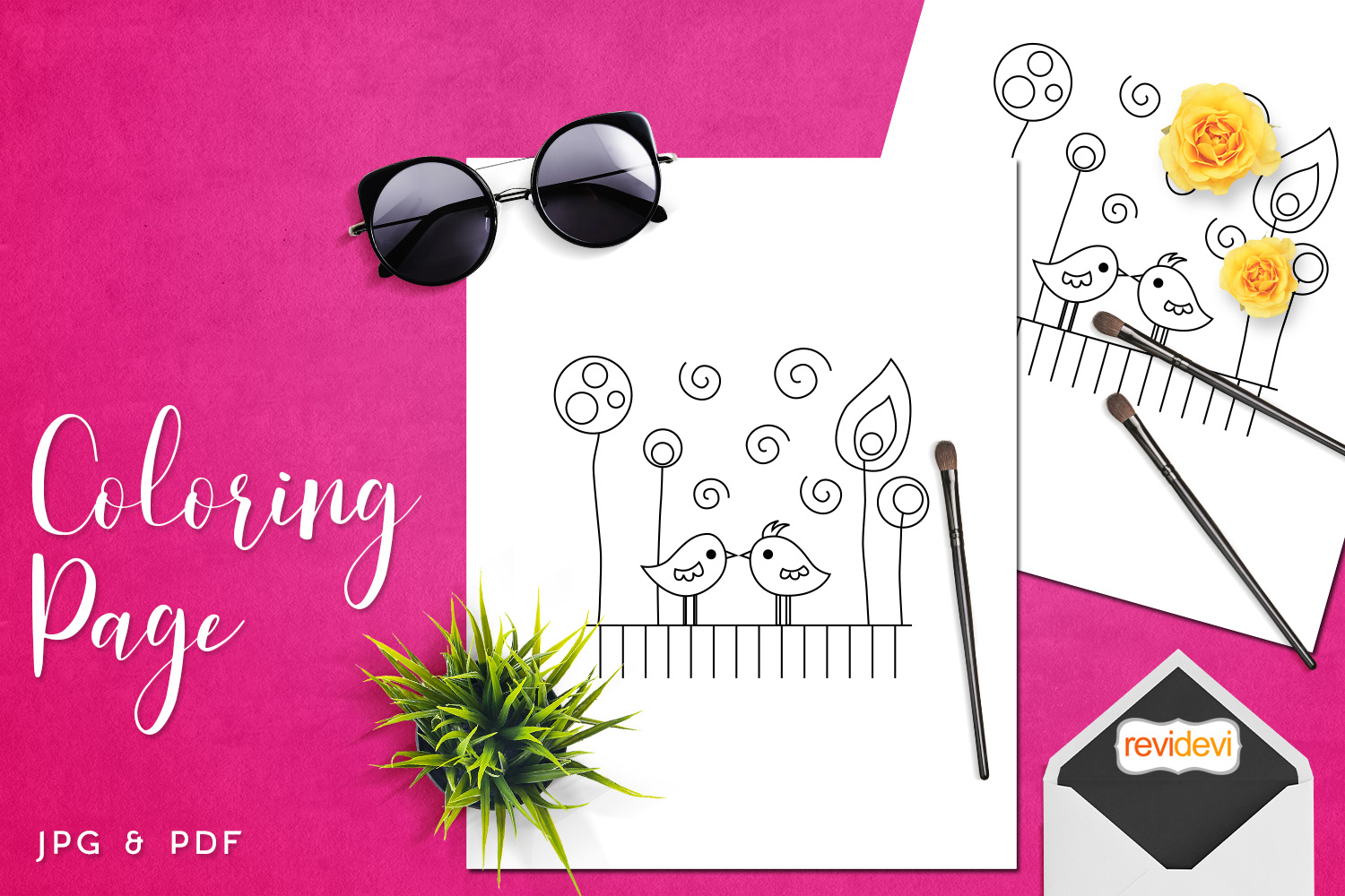 Download Free Kiss Me Coloring Page Graphic By Revidevi Creative Fabrica for Cricut Explore, Silhouette and other cutting machines.