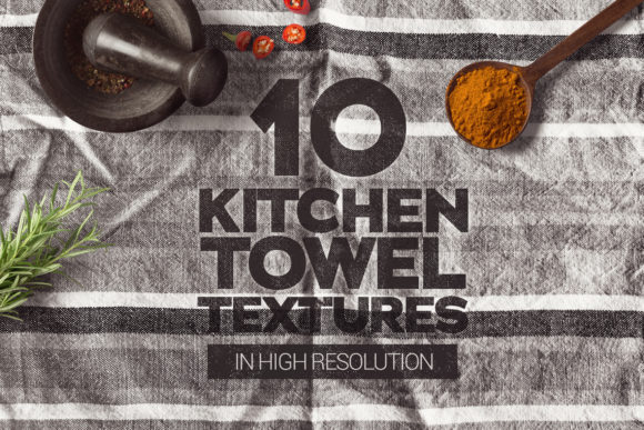 Download Free Kitchen Towel Textures X10 Graphic By Smartdesigns Creative for Cricut Explore, Silhouette and other cutting machines.