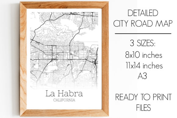 Print on Demand: La Habra California City Map Graphic Photos By SVGExpress