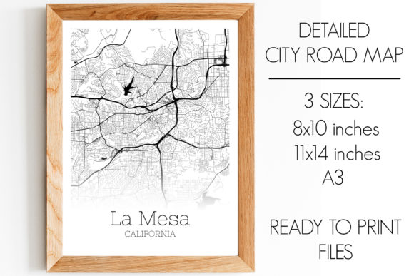 Download Free La Mesa California City Map Graphic By Svgexpress Creative Fabrica for Cricut Explore, Silhouette and other cutting machines.