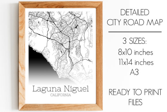 Print on Demand: Laguna Niguel California City Map Graphic Photos By SVGExpress