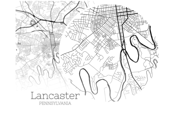 Download Free Lancaster Pennsylvania City Map Graphic By Svgexpress Creative for Cricut Explore, Silhouette and other cutting machines.