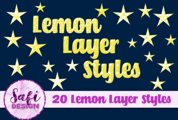 Print on Demand: Lemon Photoshop Layer Styles Graphic Layer Styles By Safi Designs