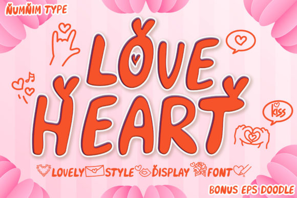 Download Free Love Heart Font By Numnim Creative Fabrica for Cricut Explore, Silhouette and other cutting machines.