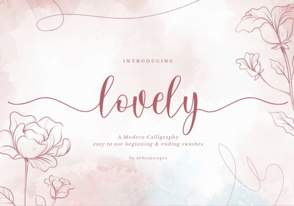 Print on Demand: Lovely Script & Handwritten Font By ardyanatypes