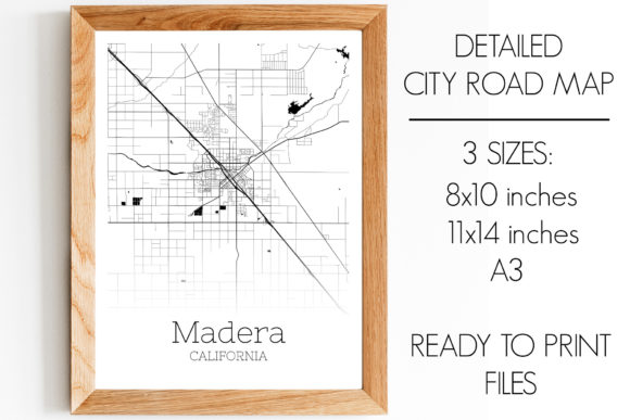 Print on Demand: Madera California City Map Graphic Photos By SVGExpress