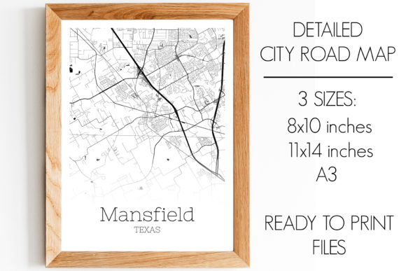 Print on Demand: Mansfield Texas City Map Graphic Photos By SVGExpress