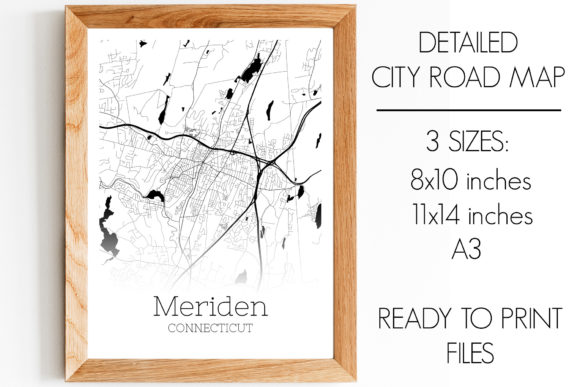 Print on Demand: Meriden Connecticut City Map Graphic Photos By SVGExpress