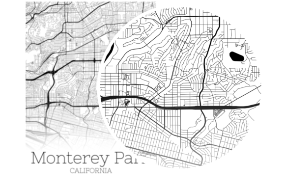Download Free Monterey Park California City Map Graphic By Svgexpress Creative Fabrica for Cricut Explore, Silhouette and other cutting machines.