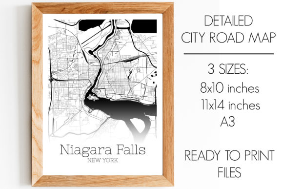 Print on Demand: Niagara Falls New York City Map Graphic Photos By SVGExpress