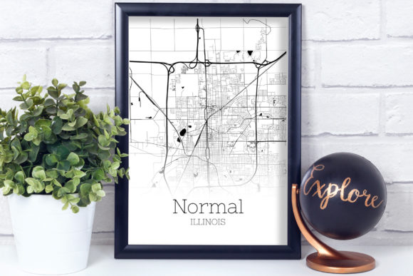 Download Free Normal Illinois City Map Graphic By Svgexpress Creative Fabrica SVG Cut Files
