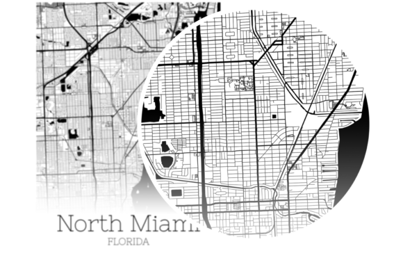 Download Free North Miami Florida City Map Graphic By Svgexpress Creative SVG Cut Files