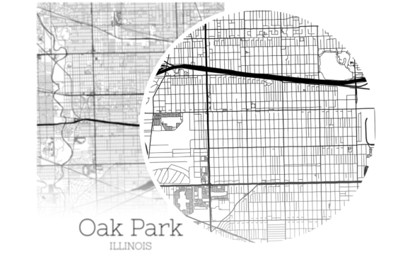 Download Free Oak Park Illinois City Map Graphic By Svgexpress Creative Fabrica for Cricut Explore, Silhouette and other cutting machines.