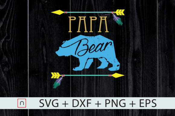 Download Free Papa Bear Father S Day Funny Gift Graphic By Novalia Creative for Cricut Explore, Silhouette and other cutting machines.