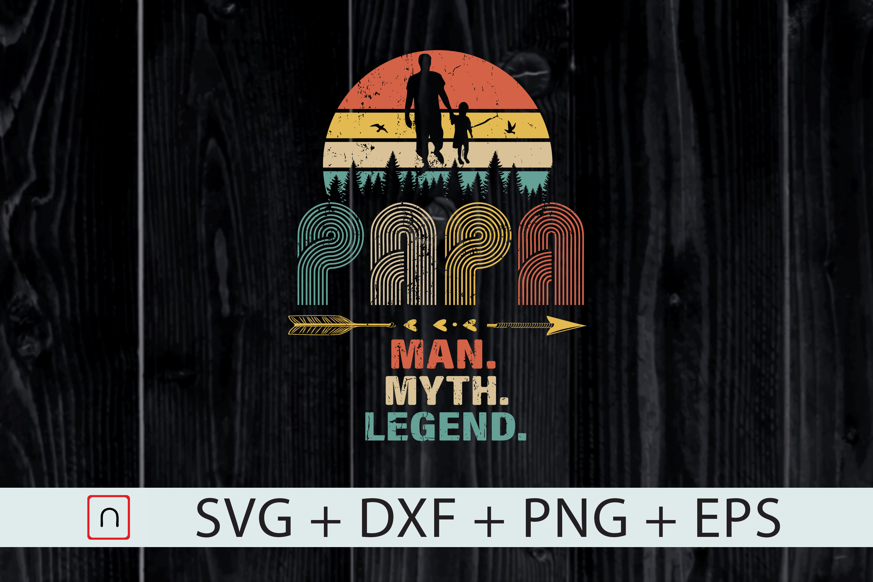 Download Free Papa Man Myth Legend For Father S Day Graphic By Novalia for Cricut Explore, Silhouette and other cutting machines.