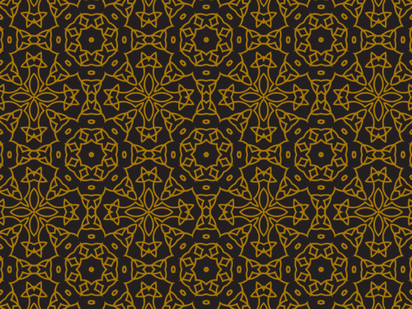 Pattern Gold Abstract Ornament Graphic By Silkymilkycreative