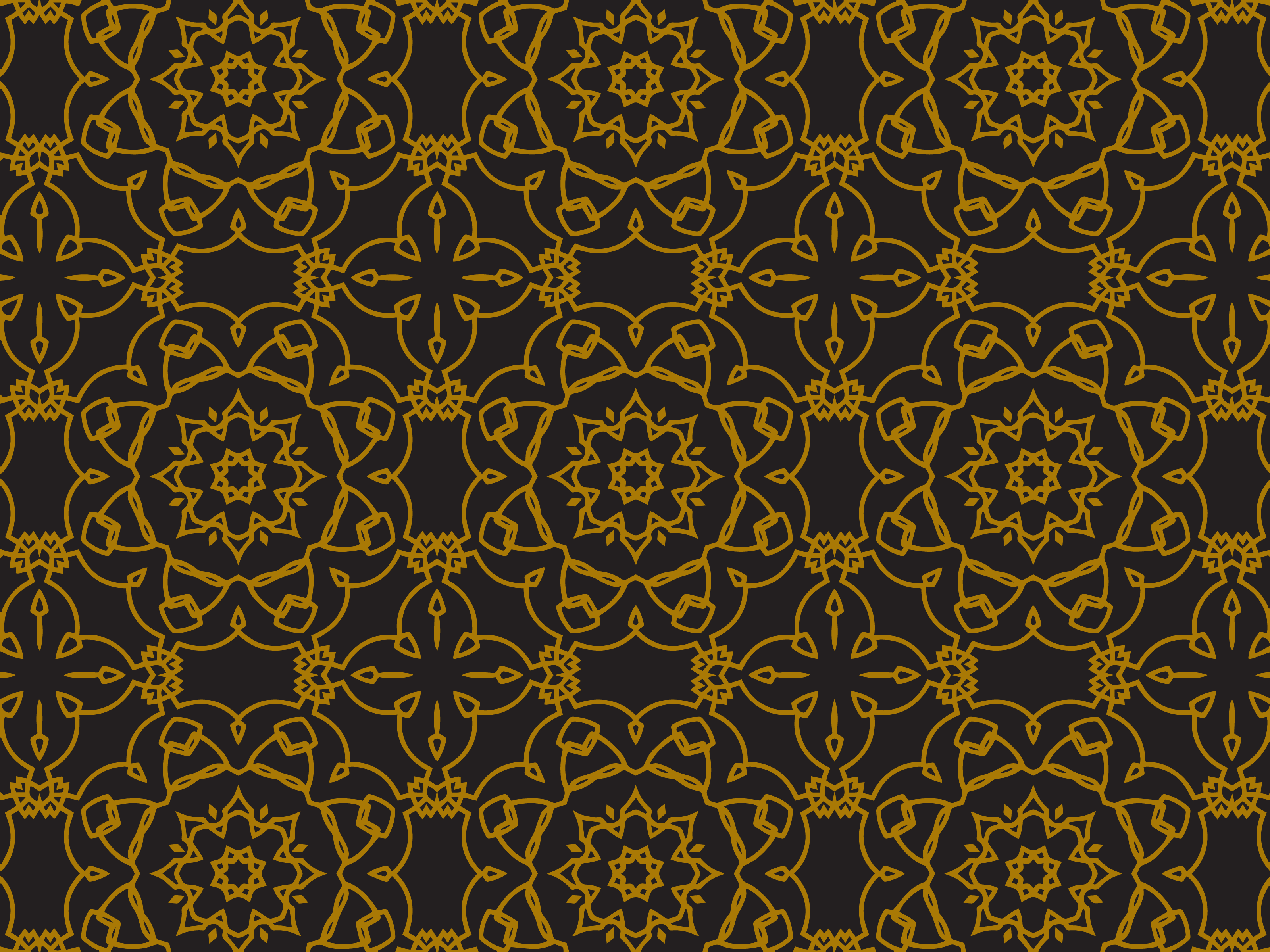 Download Free Pattern Gold Flowering Circle Graphic By Silkymilkycreative for Cricut Explore, Silhouette and other cutting machines.