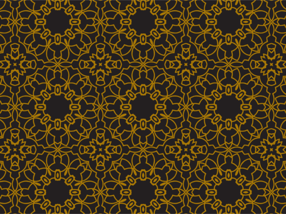 Print on Demand: Pattern Gold Flowers Abstract Graphic Patterns By silkymilkycreative