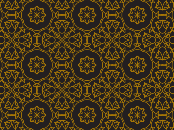 Download Free Pattern Gold Vector Circles Graphic By Silkymilkycreative for Cricut Explore, Silhouette and other cutting machines.