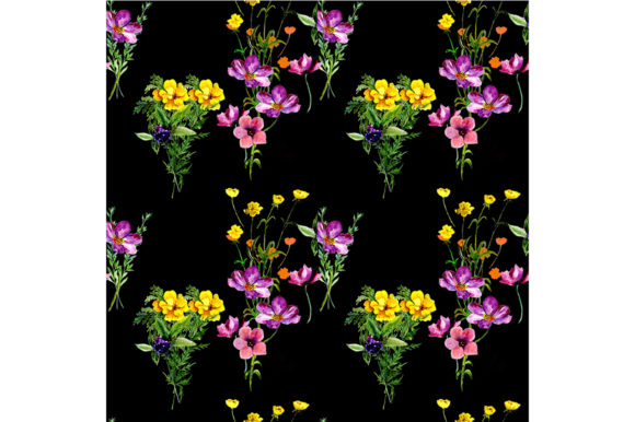 Print on Demand: Pattern Spring Flowers Graphic Patterns By kakva