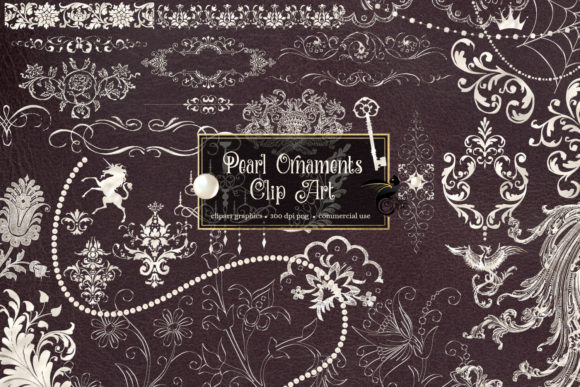 Print on Demand: Pearl Ornament Clipart Graphic Illustrations By Digital Curio - Image 1