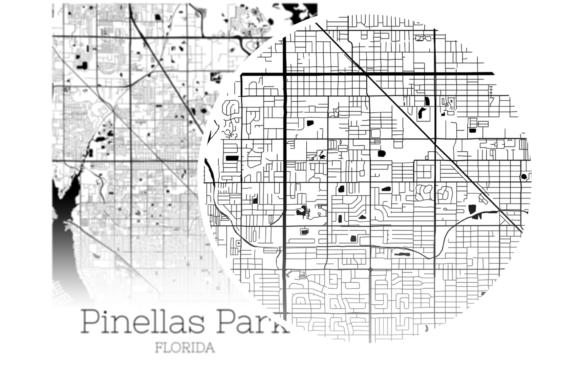 Download Free Pinellas Park Florida City Map Graphic By Svgexpress Creative Fabrica for Cricut Explore, Silhouette and other cutting machines.