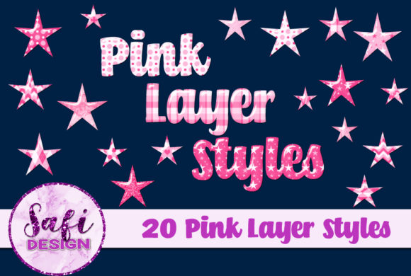 Print on Demand: Pink Photoshop Layer Styles Graphic Layer Styles By Safi Designs