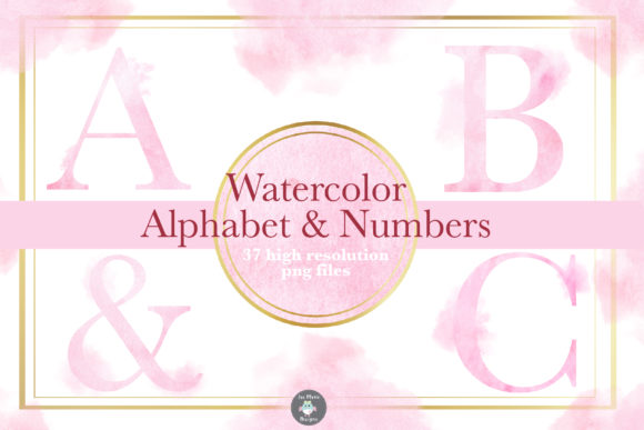 Pink Watercolor Alphabet Clipart Graphic Illustrations By thejaemarie