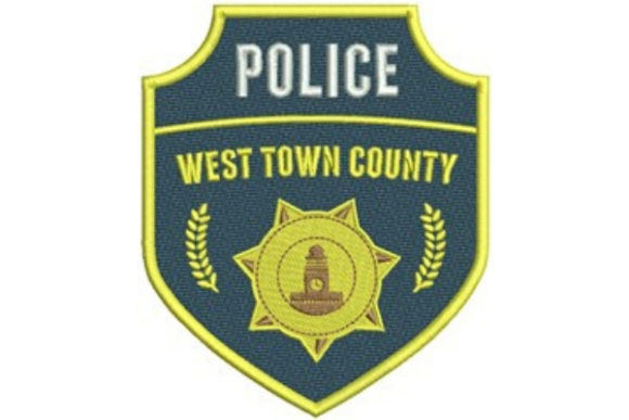 Police County Badge Work & Occupation Embroidery Design By designsbymira - Image 1