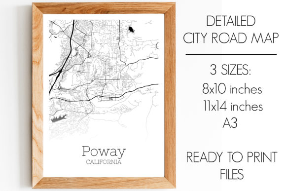 Print on Demand: Poway California City Map Graphic Photos By SVGExpress