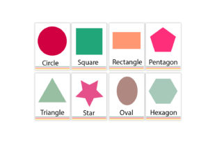 Printable Shapes Flash Cards Graphic Coloring Pages & Books Kids By Igraphic Studio