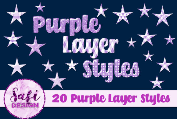Print on Demand: Purple Photoshop Layer Styles Graphic Layer Styles By Safi Designs
