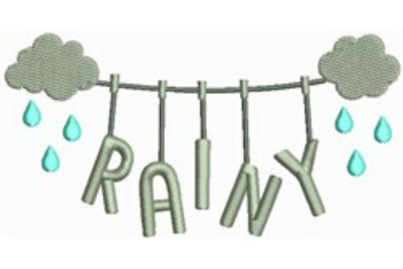 Download Free Rainy Clothesline Creative Fabrica for Cricut Explore, Silhouette and other cutting machines.