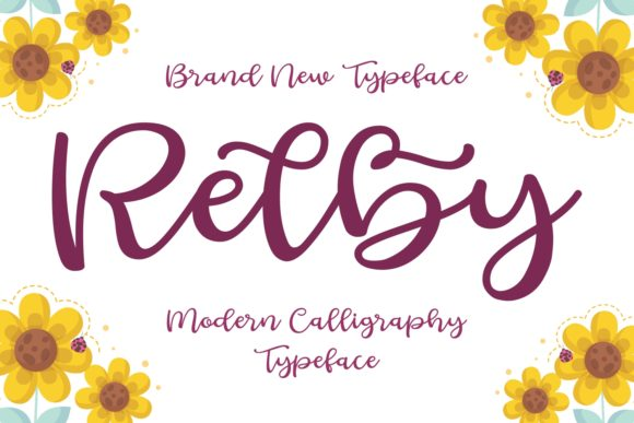 Print on Demand: Relby Script & Handwritten Font By Keithzo (7NTypes)