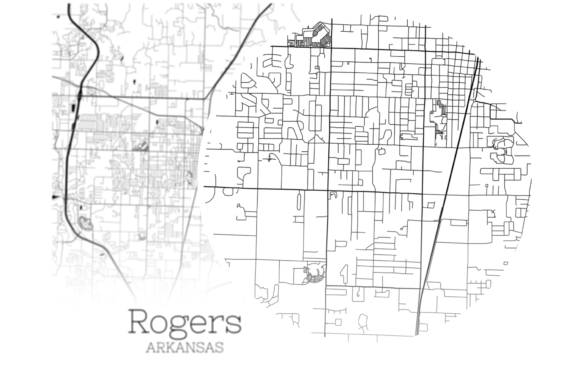 Download Free Rogers Arkansas City Map Graphic By Svgexpress Creative Fabrica for Cricut Explore, Silhouette and other cutting machines.