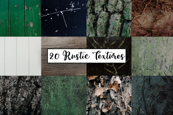 Print on Demand: Rustic Green Textures | Wooden Textures Graphic Textures By illuztrate