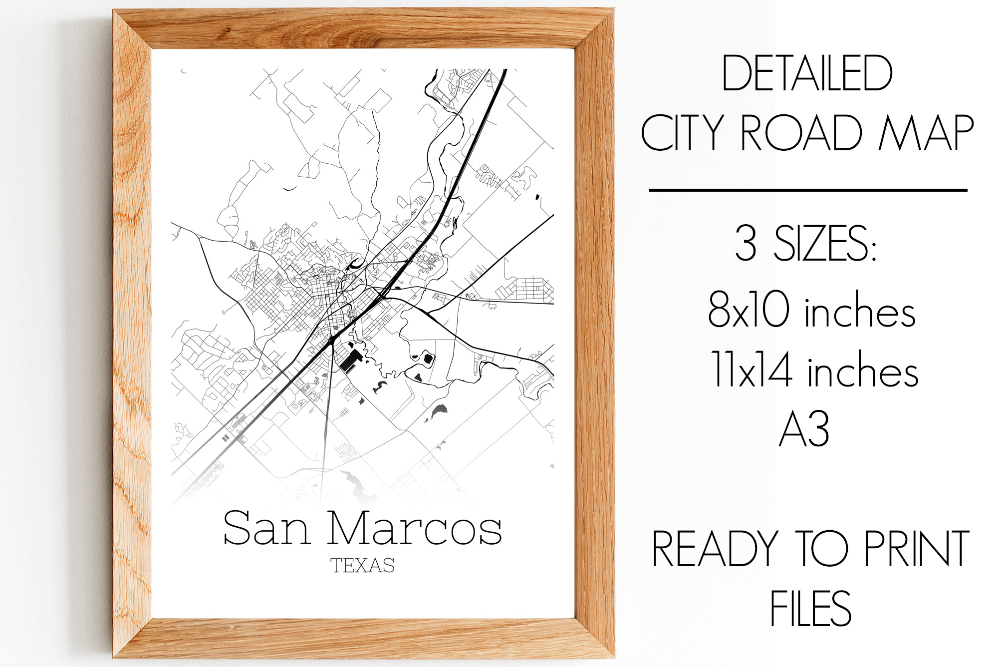 Download Free San Marcos Texas City Map Graphic By Svgexpress Creative Fabrica for Cricut Explore, Silhouette and other cutting machines.