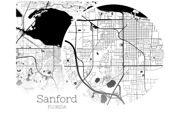 Download Free Sanford Florida City Map Graphic By Svgexpress Creative Fabrica for Cricut Explore, Silhouette and other cutting machines.