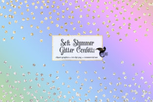 Print on Demand: Soft Shimmer Glitter Confetti Overlays Graphic Illustrations By Digital Curio