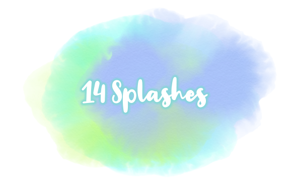 Print on Demand: Subtle Transparent Watercolor Splashes Graphic Backgrounds By Prawny - Image 3