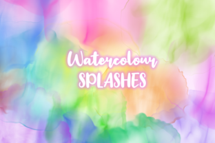 Print on Demand: Subtle Transparent Watercolor Splashes Graphic Backgrounds By Prawny