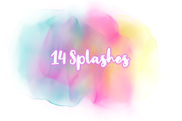 Print on Demand: Subtle Transparent Watercolor Splashes Graphic Backgrounds By Prawny - Image 2