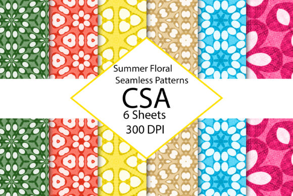 Summer Floral Digital Paper Pack Graphic By Gmslatewv Creative