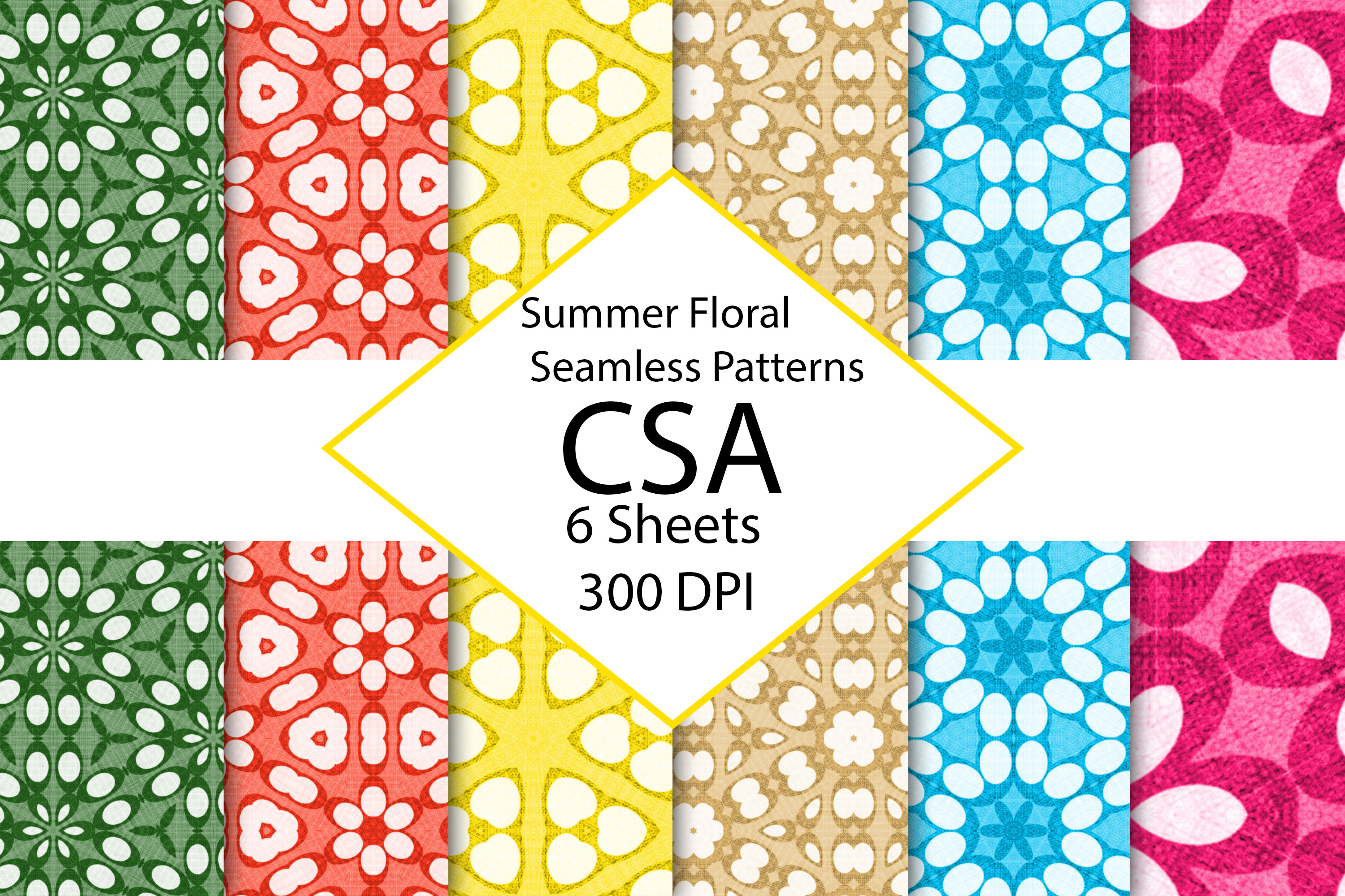 Download Free Summer Floral Digital Paper Pack Graphic By Gmslatewv Creative for Cricut Explore, Silhouette and other cutting machines.