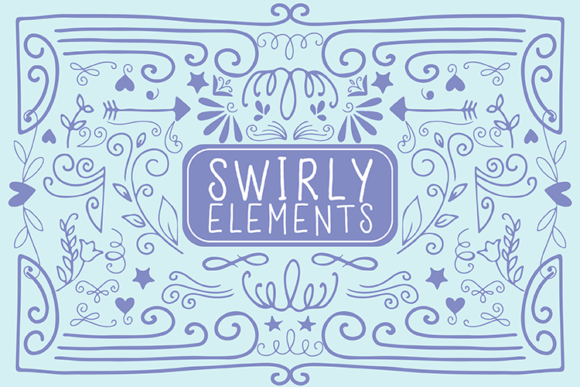 Swirly Elements Graphic Illustrations By carrtoonz
