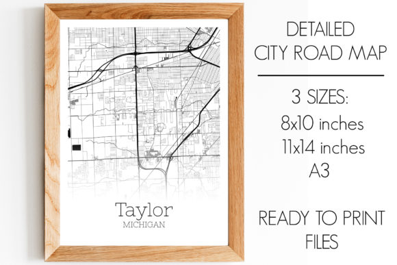 Print on Demand: Taylor Michigan City Map Graphic Photos By SVGExpress